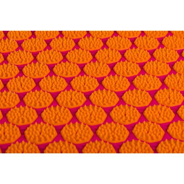 Flowee spijkermat fuchsia-oranje close-up