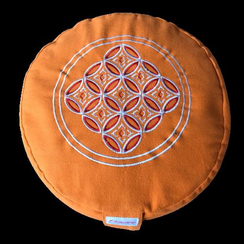 Flowee Meditatiekussen rond oranje
