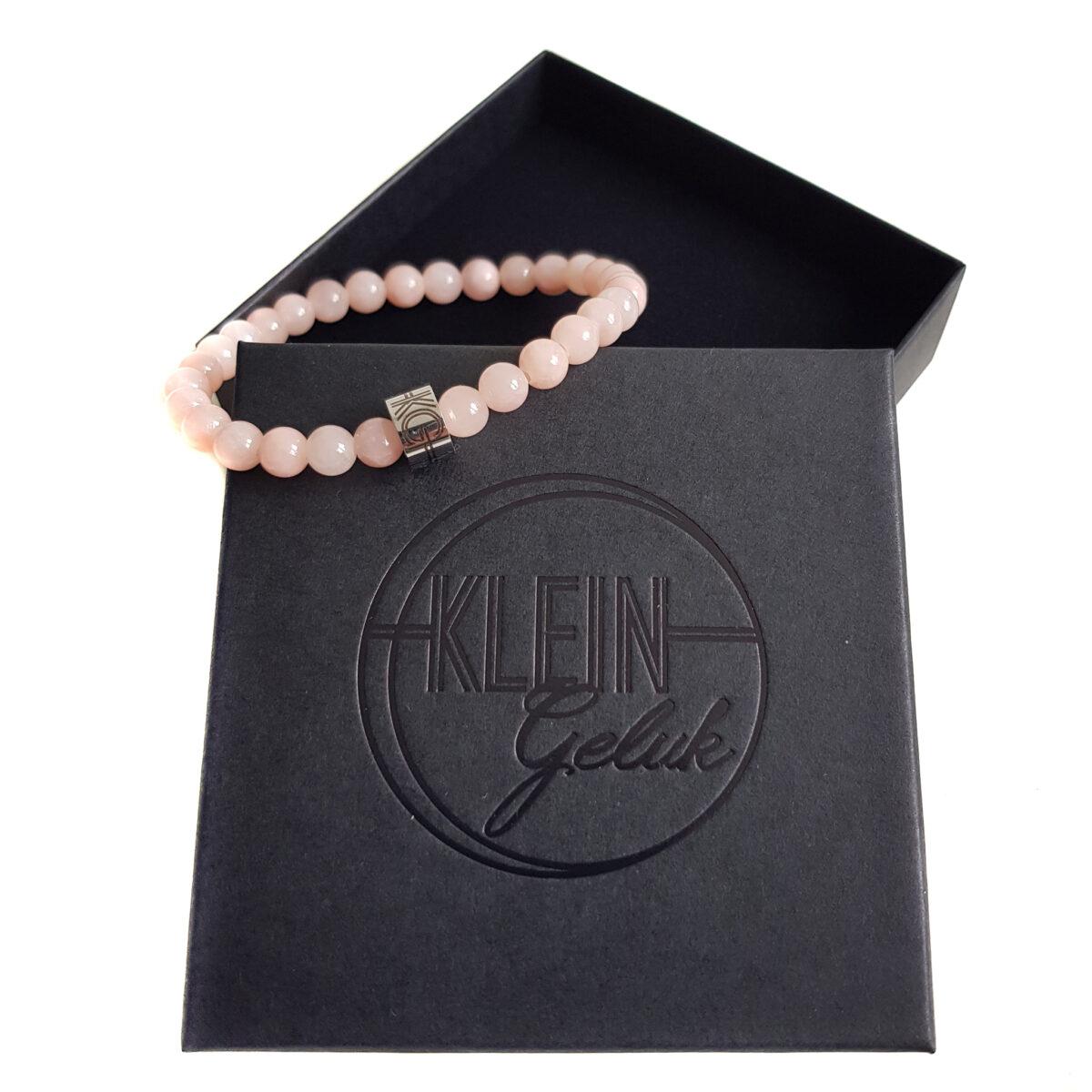 dames-armband-roze-agaat-6mm-cadeau